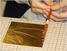 [Higashi Chaya District]Kanazawa's traditional craft, gold foiled plate making experience