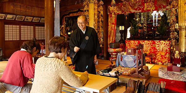 [Kinosaki Onsen] Meditation & Sutra Copying Experience at Kinosaki Honju-ji Temple