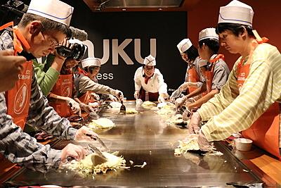 體驗製作廣島代表性的美食「廣島燒」!