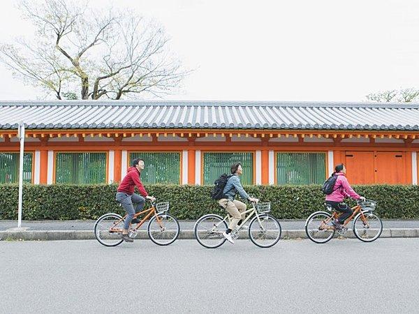 Fushimi Inari Shrine ~ Rengeoin Sanjusangendo Half-Day Cycling Tour