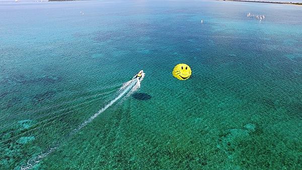 海中道路地區☆微笑滑翔傘體驗