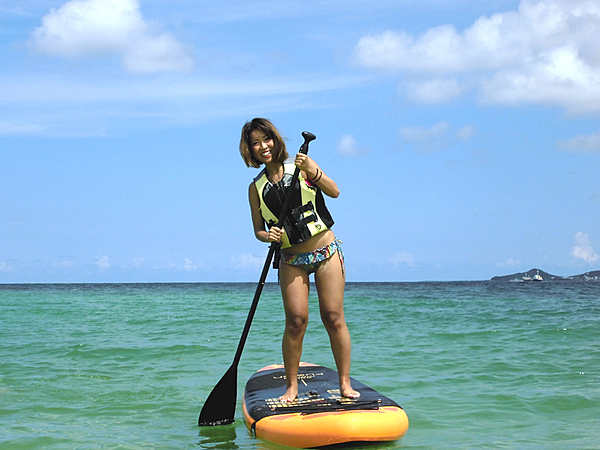 [Okinawa SUP] SUP Experience at Nishihara Kira Kira Beach! Only a 30-minute drive from Naha Airport!