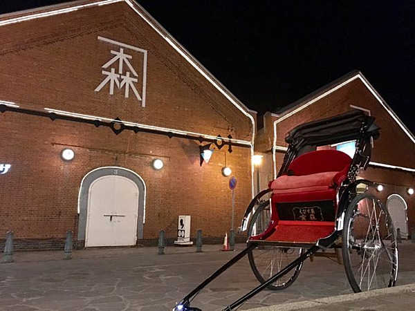 【EBISUYA函館】漂浮於北海的東方珠寶盒 巡遊函館夜景的人力車之旅【60分鐘行程】