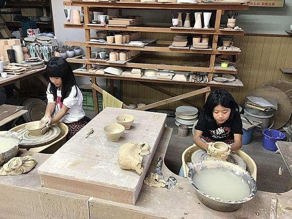 萩燒製作 陶輪製作