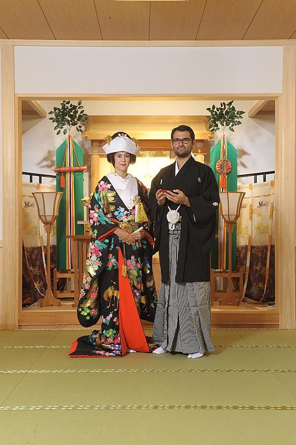 日本傳統結婚典禮體驗(神社參拜作法與在正宗茶室體驗荼道)附1張203×254mm照片