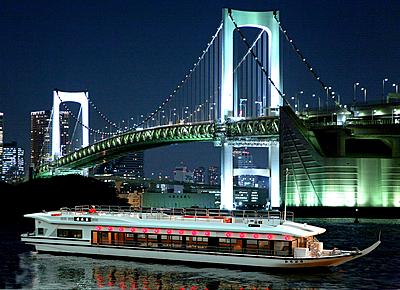 暢遊台場、隅田川、東京鐵塔!乘合屋形船 平日行程