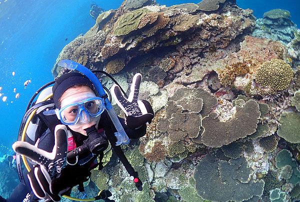 在美麗大海中體驗潛水半天行程(提供水中攝影服務!!)