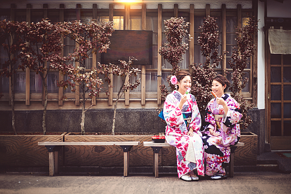 [Kamakura/Kimono Rental] Located in the center of Komachi-dori, enjoy eating out and taking pictures on social networking sites.