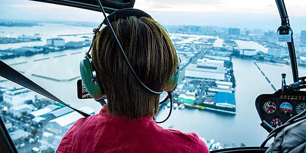 搭乘直升機遊覽東京灣的大滿足方案♩巡遊東京晴空塔&銀座20分鐘