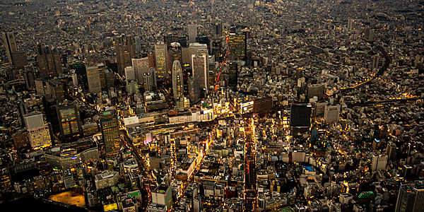A luxurious 45-minute helicopter trip to Tokyo with sunset view of Yokohama and Tokyo at night.