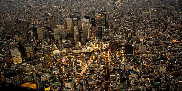 欣賞橫濱日落&東京夜景 45分鐘豪華直升機之旅